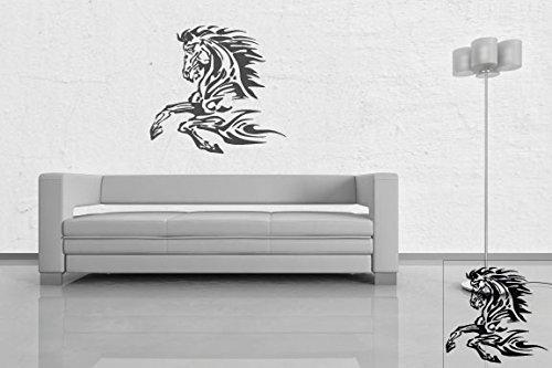 1 Pferde-Aufkleber zur Dekoration von Wänden, Glasprodukten, Fliesen und allen anderen glatten Oberflächen; aus 18 Farben wählbar; in matt oder glänzend; Braun - glänzend