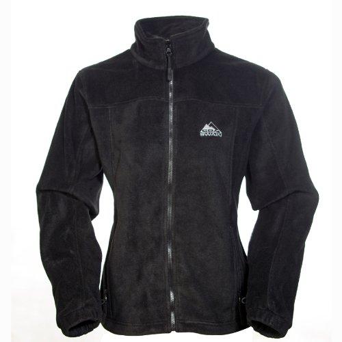 COX SWAIN Damen FLEECE Jacke OAKS, Farbe: Black, Größe: M
