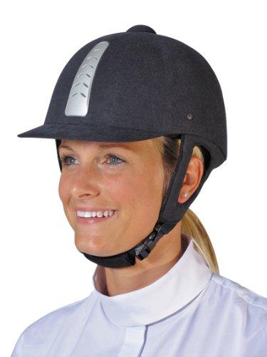 HKM Reithelm Stripe Air, Helmgrösse 56, schwarz