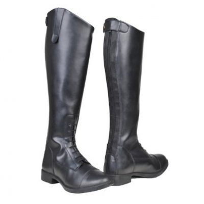 HKM Damen Reitstiefel-New Fashion, Standard, Schwarz, 39