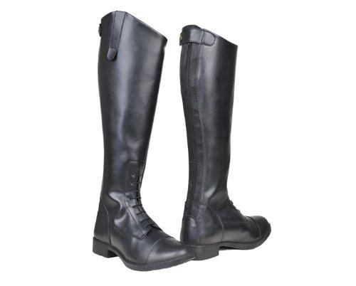 HKM Damen Reitstiefel-New Fashion, Standard, Schwarz, 39