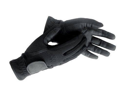 HKM Winter-Reithandschuh aus Lederimitat, Grösse S (18-19 cm), schwarz