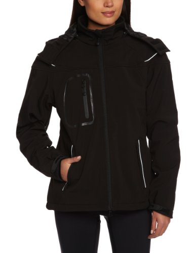James & Nicholson Damen Jacke Softshelljacke Winter schwarz (black) X-Large