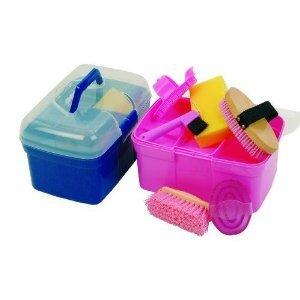 Kinder Pferde Putzbox Pony mit 6 - teiligem Inhalt rosa von carmesin
