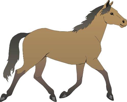 Pferd 3 Stück 21 x 26 cm groß wunderschöner Aufkleber für ...